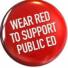 Order RED for ED swag for #redfored Wednesdays